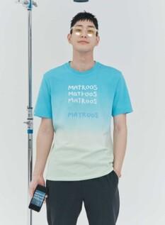 [NOVO X 지오지아] 오가닉 다잉 그라데이션 티셔츠(BL)