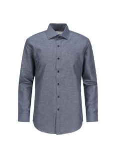와이드 카라 멜란지 드레스 셔츠