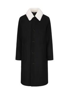 카라 포인트 발마칸 루즈핏 코트 (카라 보아털 탈부착 가능)