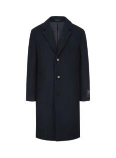 네이비 세미루즈핏 코트 (이태리 로마 수입 원단)