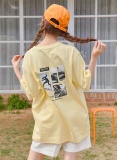 아이스 그래픽 오버핏 반팔 티셔츠