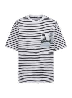 스트라이프 오버핏 반팔 티셔츠