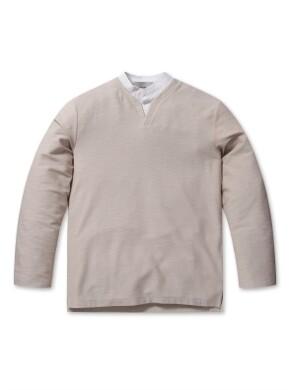 셔츠 슬릿 디테일 티셔츠