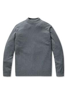 캐시 블렌디드 하프넥 스웨터