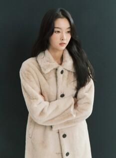 여성 밍크 보아 코트