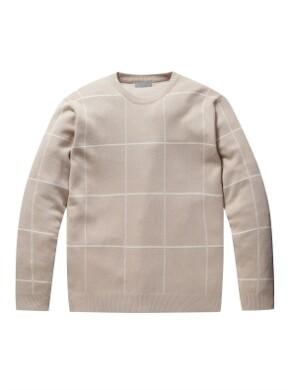 체크 패턴 워셔블 스웨터