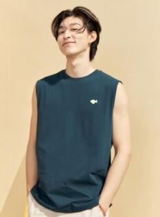 고래밥 싱글 그래픽 민소매 티셔츠