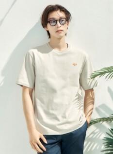 고래밥 싱글 자수 그래픽 반팔 티셔츠