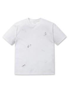 순살탱방 전판 그래픽 반팔 티셔츠