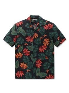 패턴 카바나 반팔 셔츠
