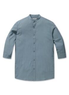 코튼 쿨스킨 밴드카라 7부 셔츠