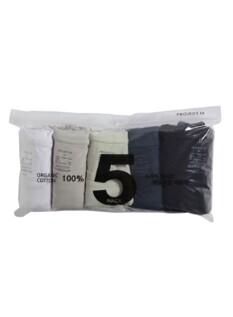 오가닉코튼 5팩 포켓 반팔 티셔츠