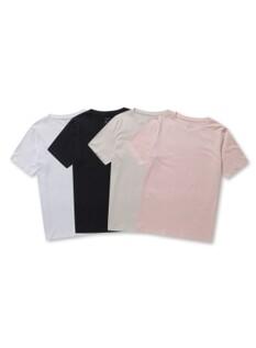 여성 데일리 4팩 반팔 티셔츠 패키지