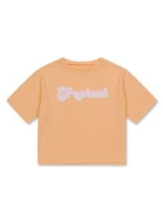 여아) 코튼싱글 레터링 티셔츠