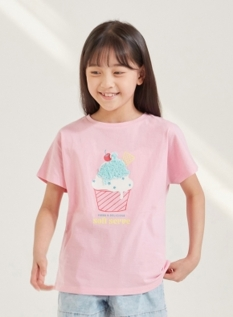 여아) 코튼싱글 입체그래픽 티셔츠