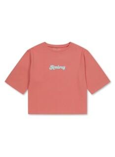 여아) 싱글 7부 레터링 티셔츠
