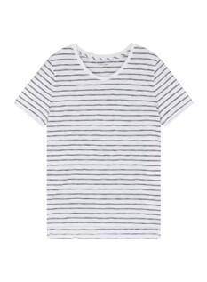 여성) 슬럽 스트라이프 크루넥 반팔 티셔츠