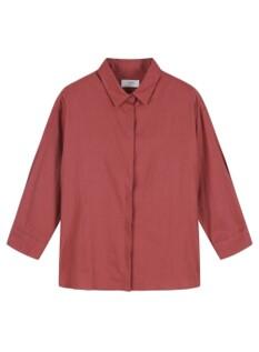 여성) 리넨 오버핏 7부 셔츠