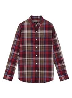 남성) 코튼 플란넬 버튼다운 셔츠