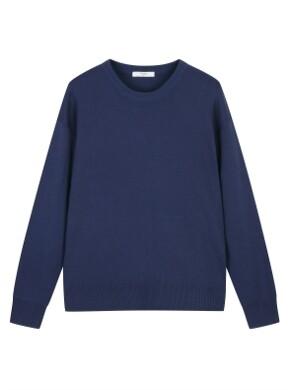 여성) 텍스쳐드 크루넥 루즈핏 스웨터