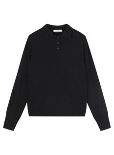 여성) 캐시미어 블렌드 폴로카라 스웨터
