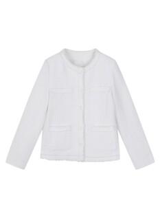 여성) 노카라 트위드 재킷
