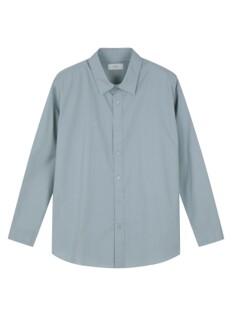 포플린 레귤러 카라 루즈핏 셔츠