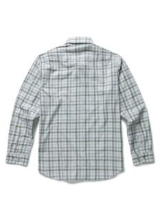 배색 체크 캐주얼셔츠
