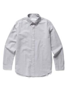코튼 멜란지 조직감 솔리드 셔츠