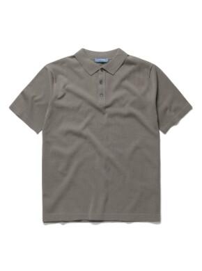 솔리드 스파쿨링 니트 카라 티셔츠