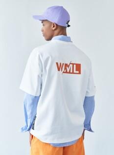 WML 시그니쳐 니들 워크 그래픽 오버 티셔츠