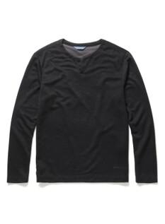 라운드 슬릿넥 티셔츠