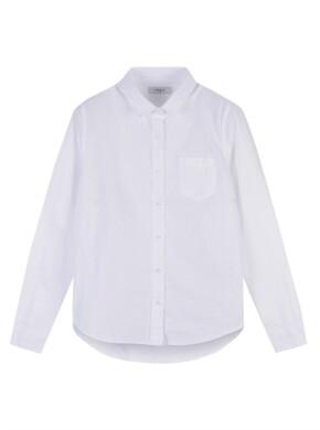 여성 코튼 옥스퍼드 베이직핏 긴팔 셔츠