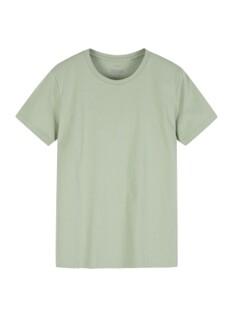 여성 크루넥 솔리드 반팔 티셔츠