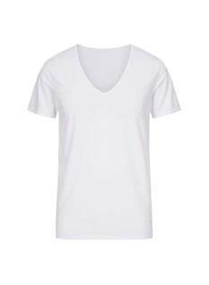 쿨스킨 브이넥 반팔 티셔츠