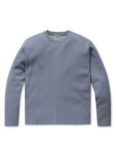 이중배색 워셔블 오버핏 스웨터