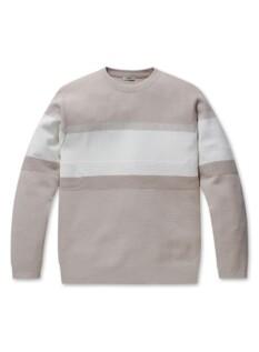 블러킹 워셔블 크루넥 스웨터