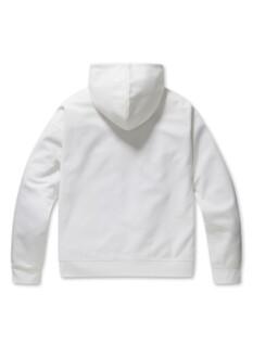 미니 레터링 오버핏 후드 티셔츠