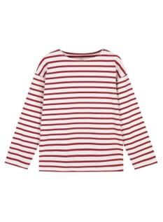 여성 보트넥 스트라이프 긴팔 티셔츠