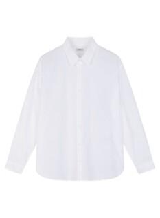 여성 포플린 루즈핏 긴팔 셔츠