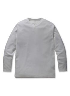 슬릿 라운드 긴팔티셔츠