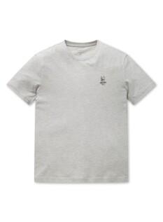 공용 오가닉 코튼 그래픽 반팔 티셔츠