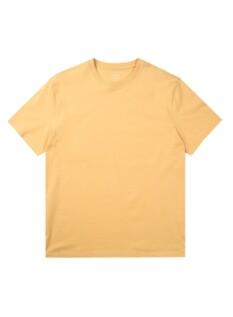 오가닉 면 크루넥 솔리드 반팔 티셔츠