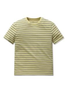 컬러 단가라 라운드 반팔티셔츠