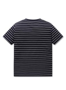 공용 면 크루넥 스트라이프 반팔 티셔츠