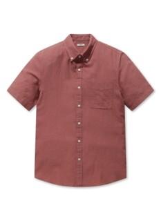 린넨코튼 버튼다운 반팔 셔츠