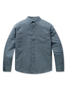린넨코튼 프리미엄 프렌치 버튼다운 긴팔 셔츠