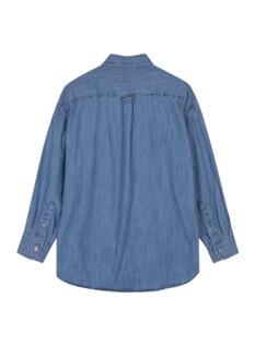 여성 코튼 데님 루즈핏 긴팔 셔츠