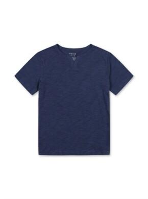 슬럽 베이직 슬릿 반팔 티셔츠