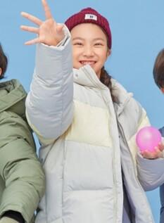 배색 숏다운 점퍼 (D50/50)